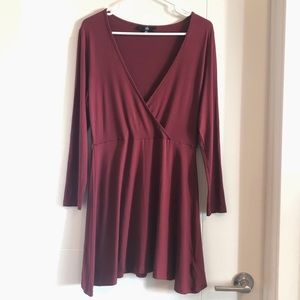 2/30$ Missguided burgundy mini wrap dress